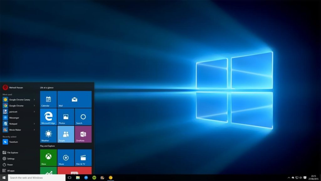 image de windows 10